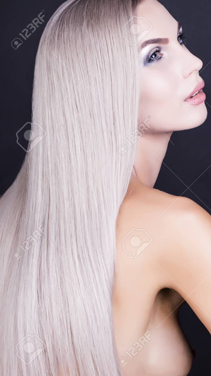 Sensual Looking Blonde Girl Posing In Studio Nacked Stock Photo 88028687