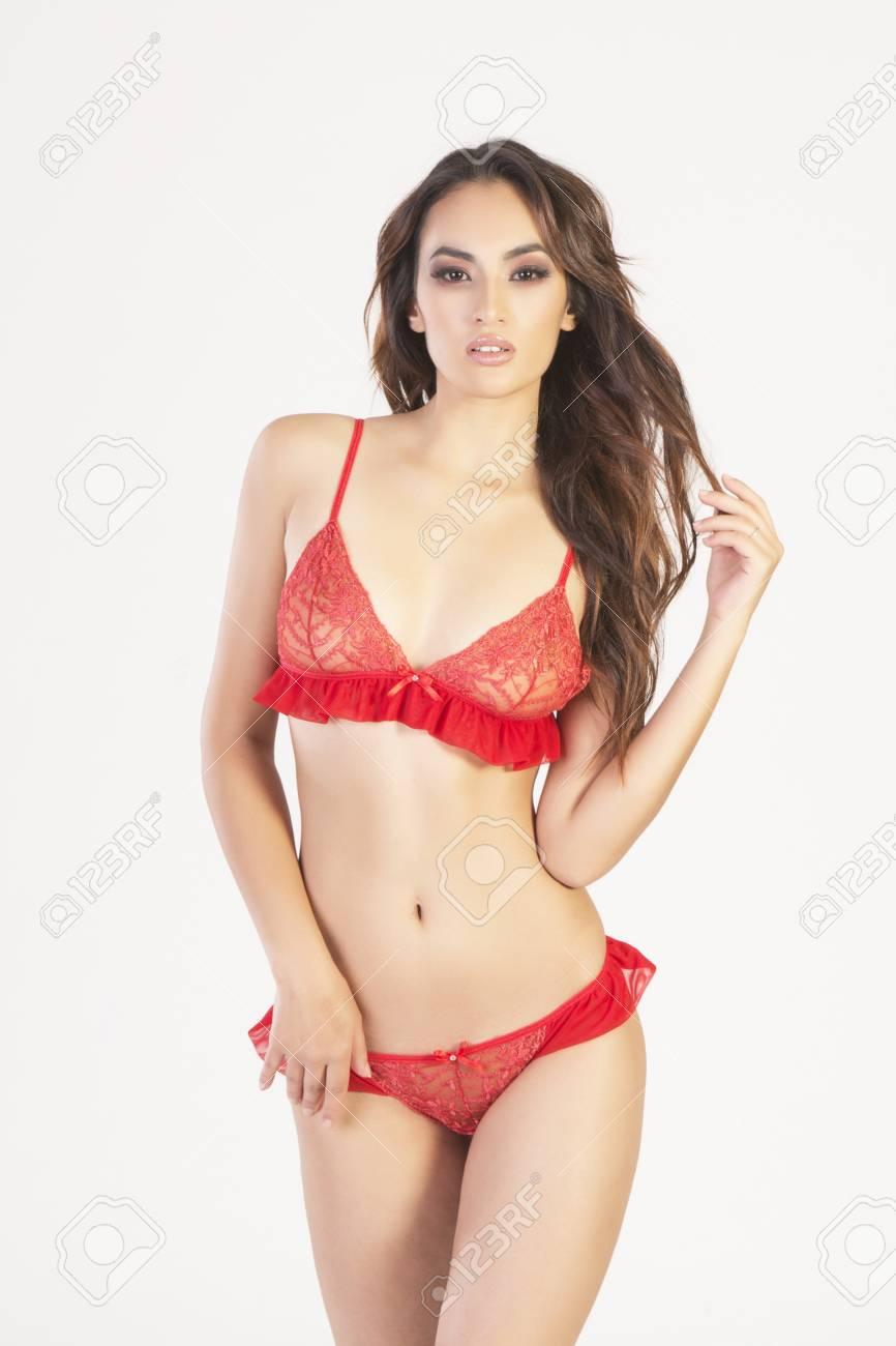 Asian Woman Lace Panties Jpg