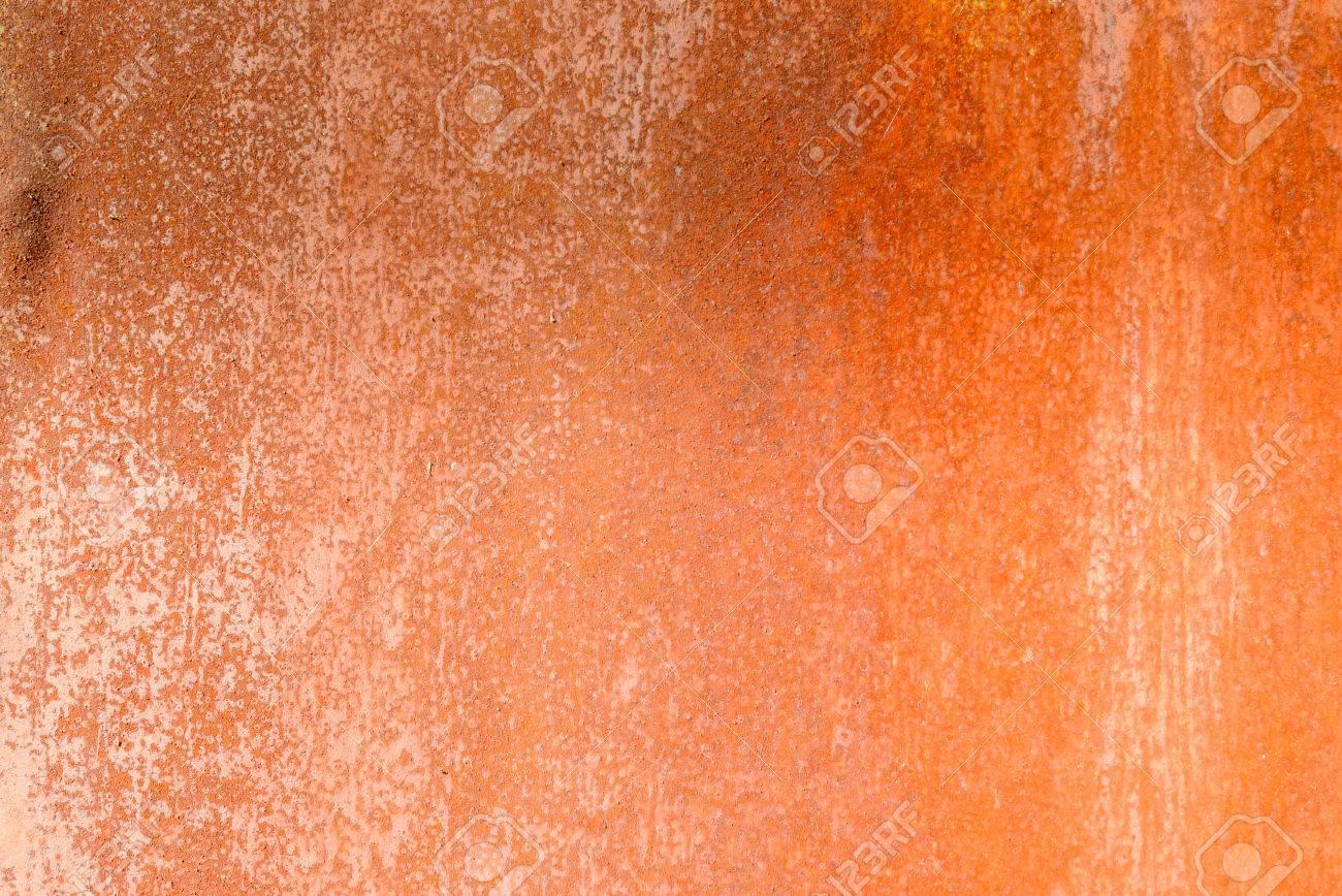 Texture Chaude Du Vieux Désordre Métal Couleur Rouille Banque D