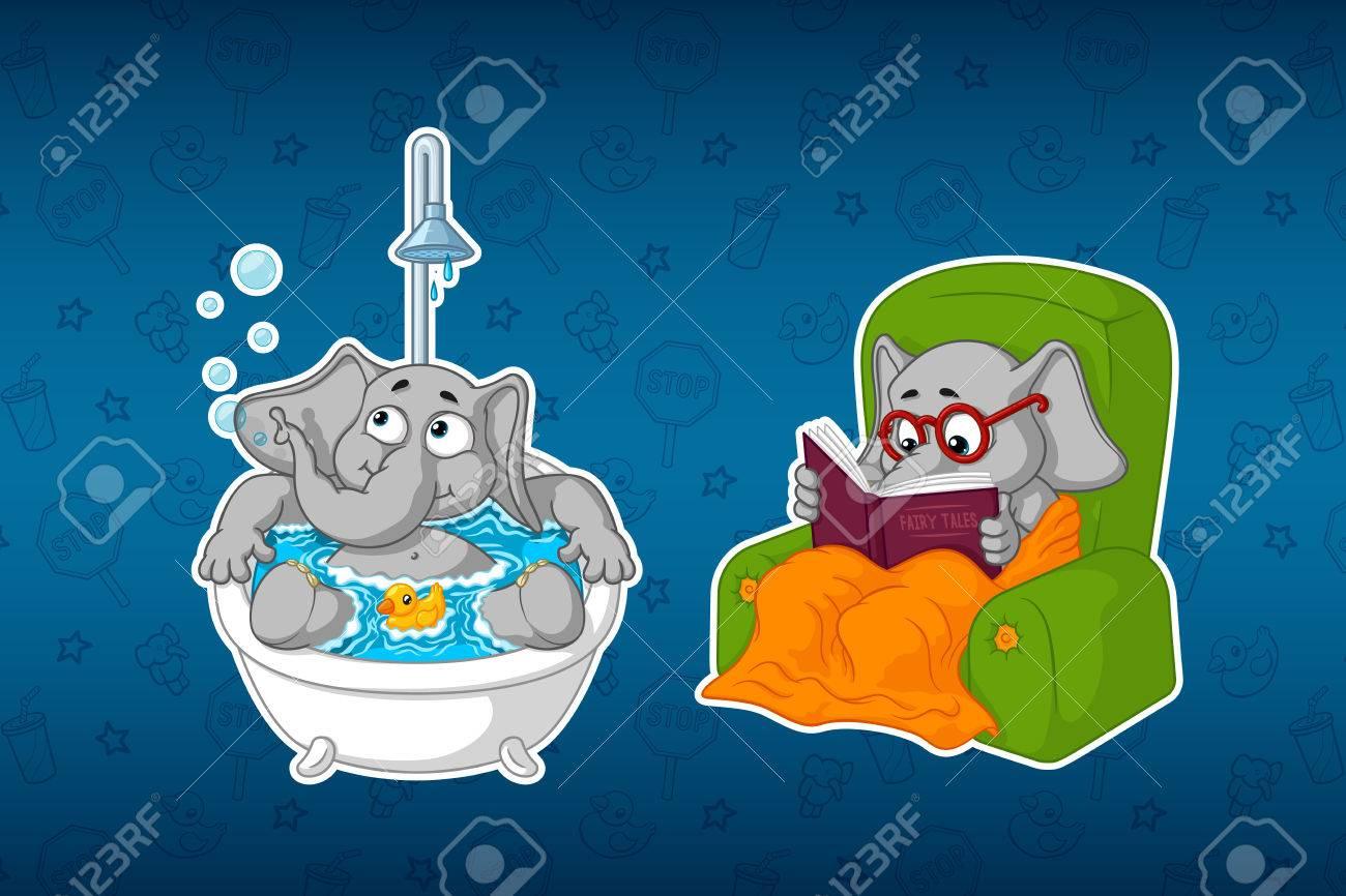 I personaggi dei cartoni animati degli elefanti immagini png