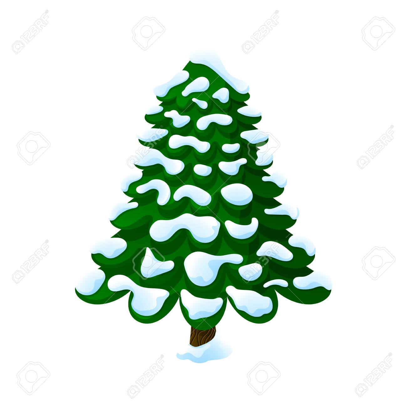 Christmas Tree In The Snow On A White Background Cartoon Vector Royalty Free Cliparts Vectors And Stock Illustration Image 109086566 Browse our christmas tree cartoons images, graphics, and designs from +79.322 free vectors graphics. christmas tree in the snow on a white background cartoon vector