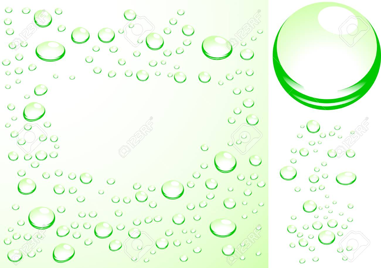 Wet surface. Initial ball-drops is present! Stock Vector - 2528419