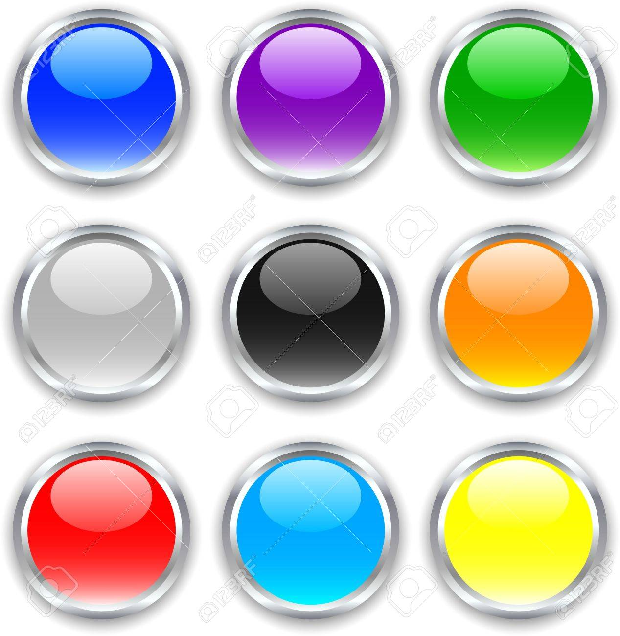 Beautiful buttons with shadows. Vector illustration. Stock Vector - 3398651