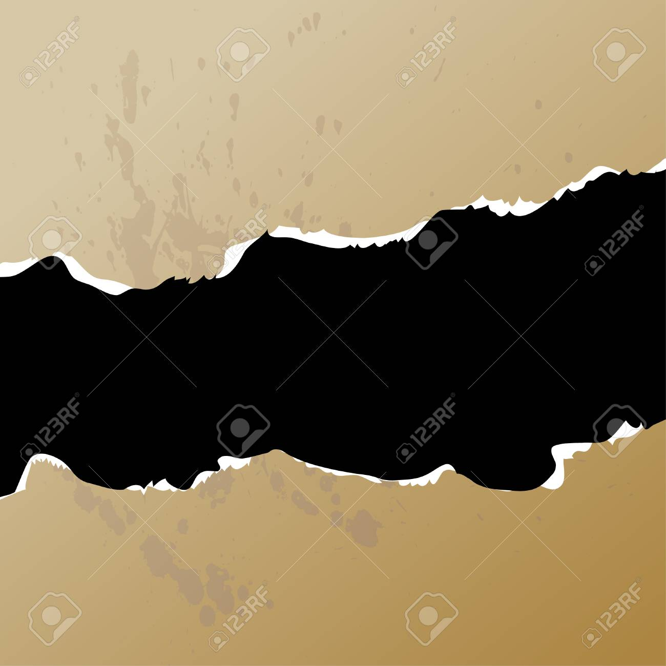 Hole in paper. Vector illustration. Stock Vector - 3406694