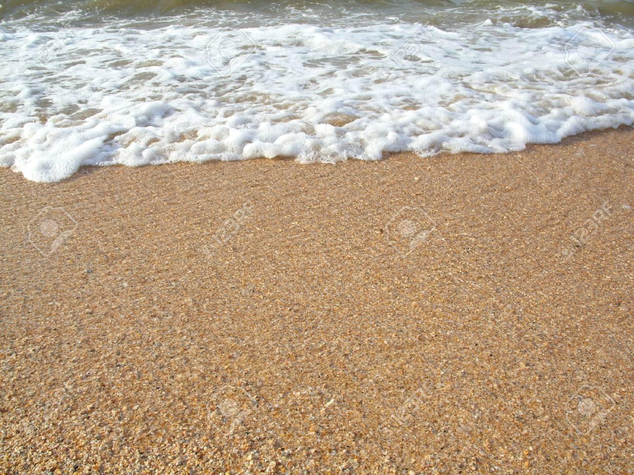 Beautiful coastline. Coast contains sand and cockleshells. Stock Photo - 3464873