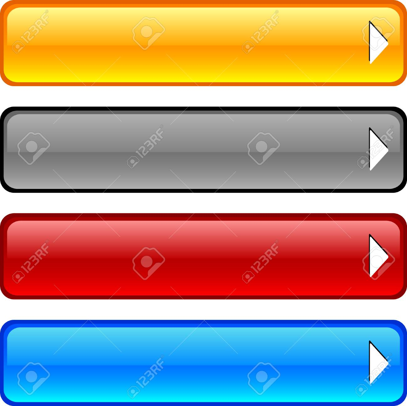 Beautiful shiny buttons. Vector illustration. Stock Vector - 3531566