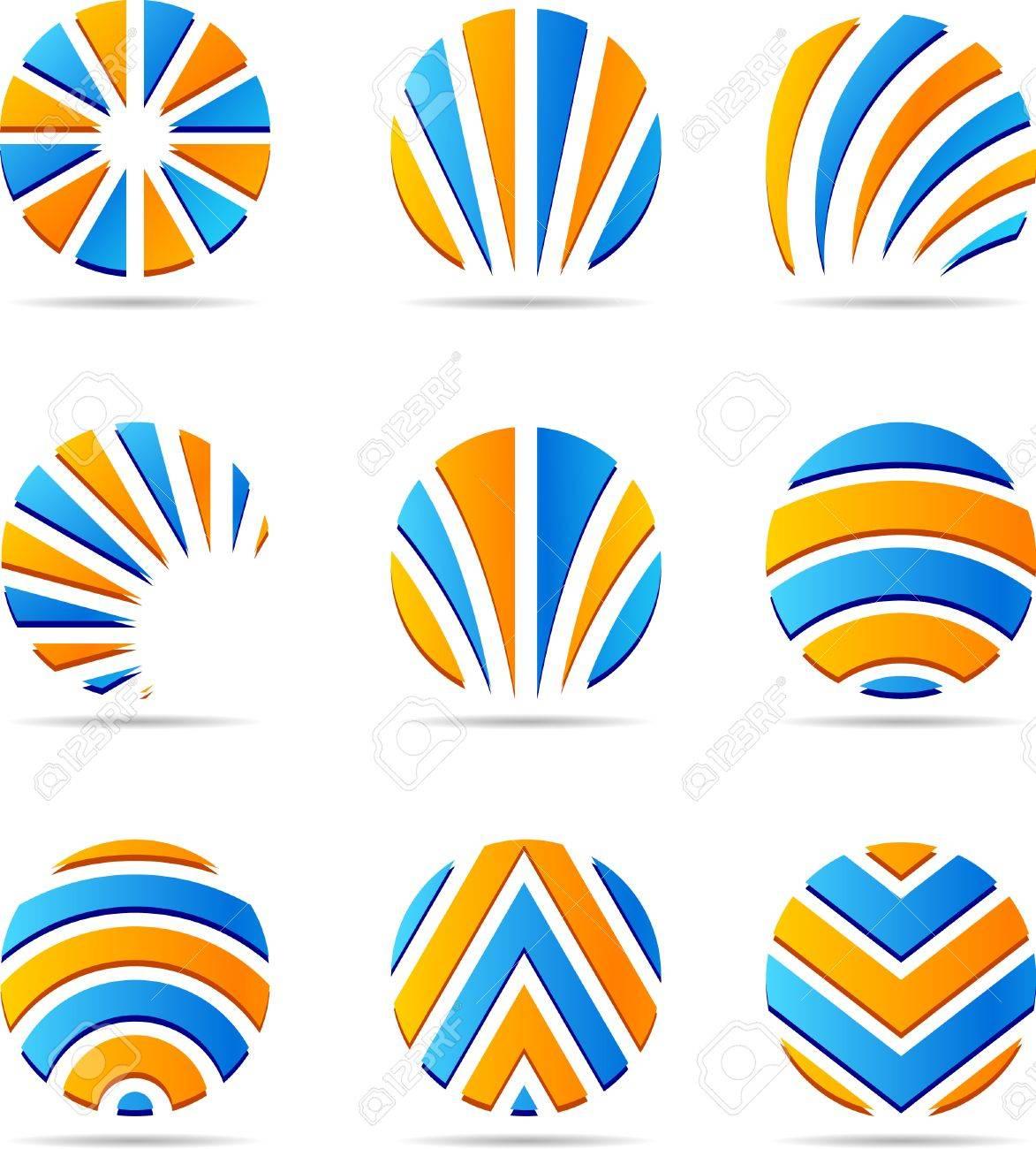 Set of company logos. Vector illustration. Standard-Bild - 3606865