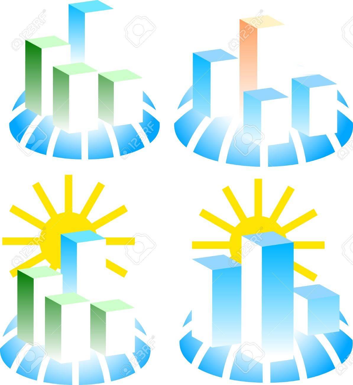 Set of building logos. Vector illustration. Stock Vector - 3816181