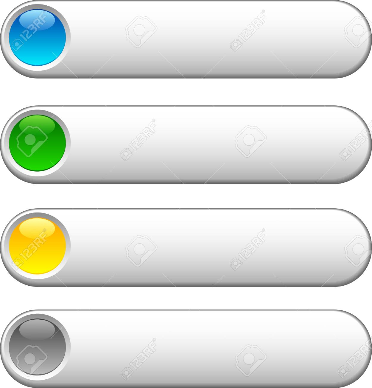 Web shiny buttons. Vector illustration. Stock Vector - 3982493