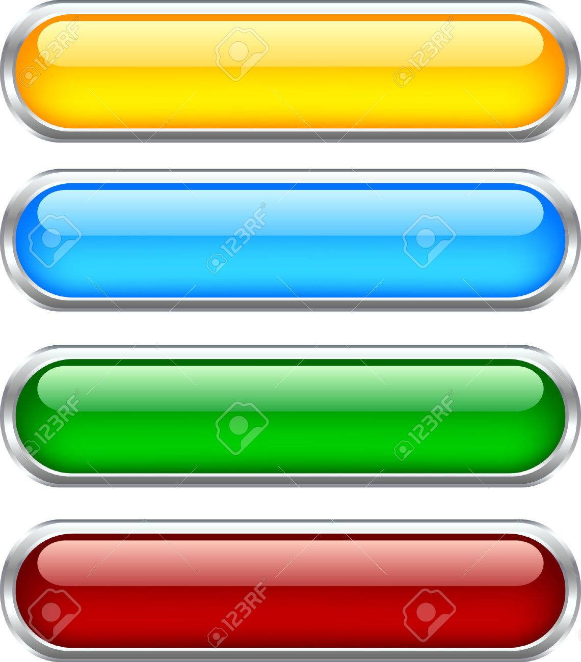 Web shiny buttons. Used mesh. Stock Vector - 4294196