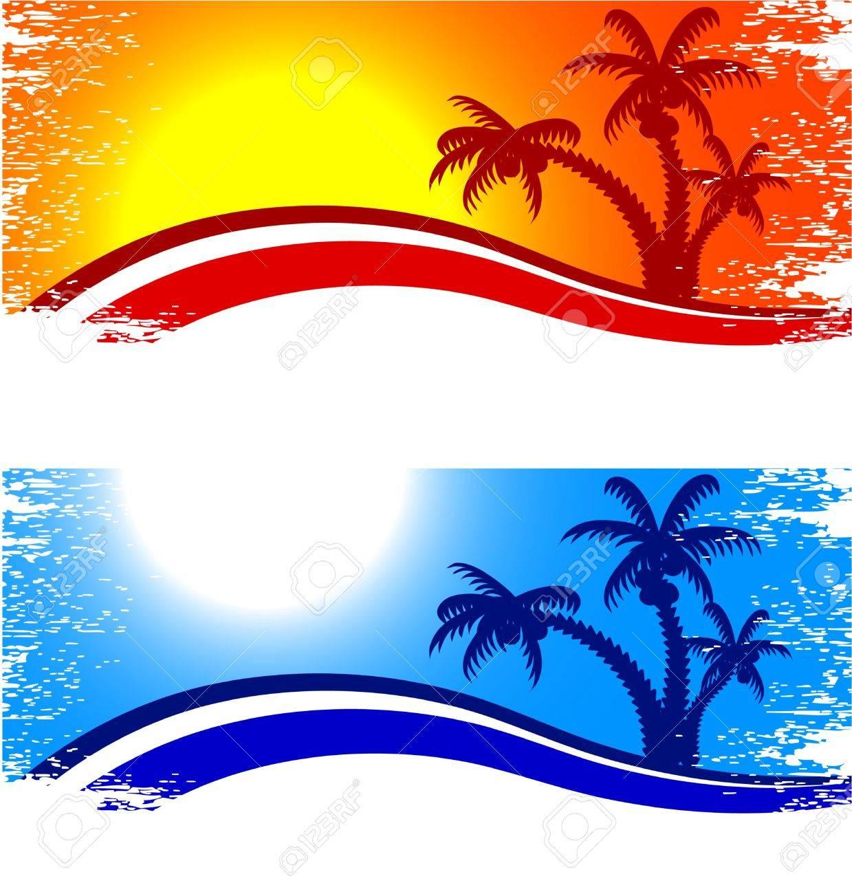 Tropical abstract backdrop. Vector illustration. Stock Vector - 4498425