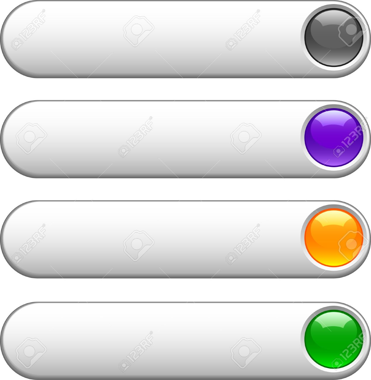 Internet shiny buttons. Vector illustration. Stock Vector - 4530212