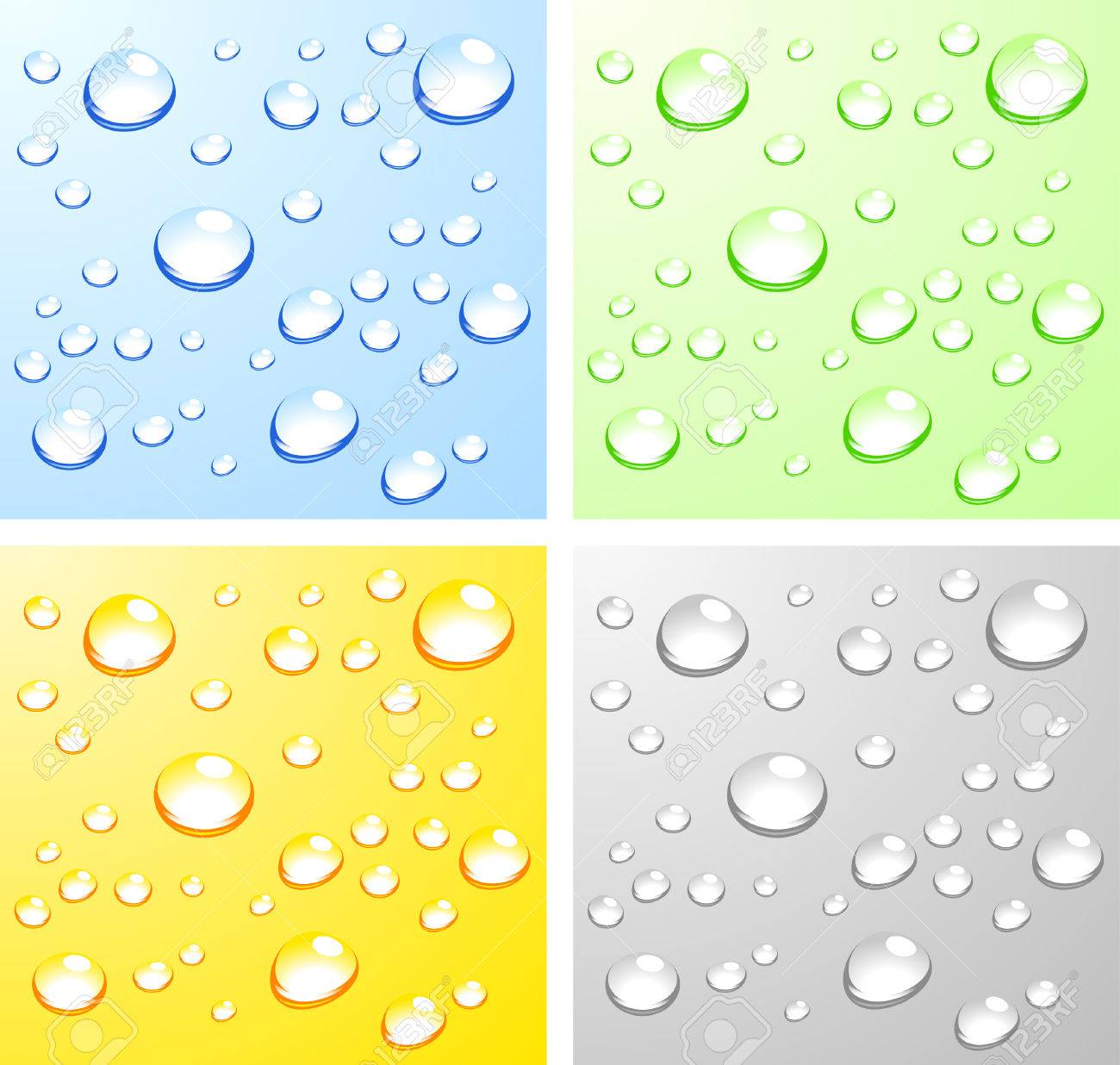 Color Wet surfaces. Vector illustration. Stock Vector - 4537276