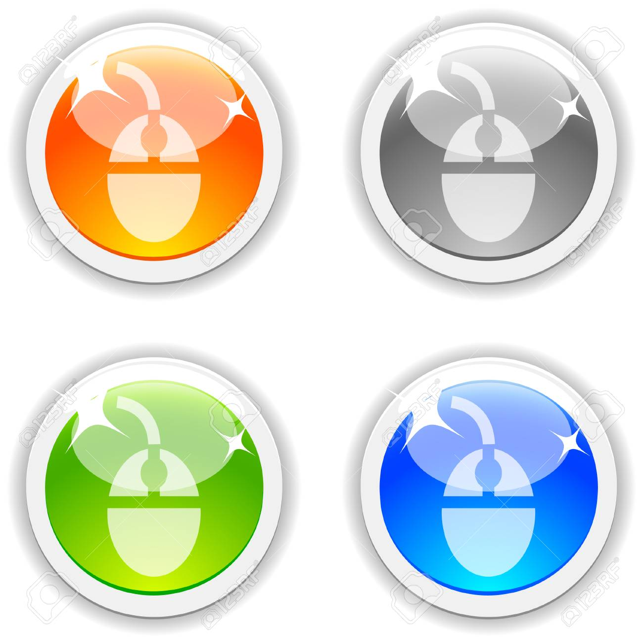 Mouse realistic buttons. Vector illustration. Stock Vector - 4767513