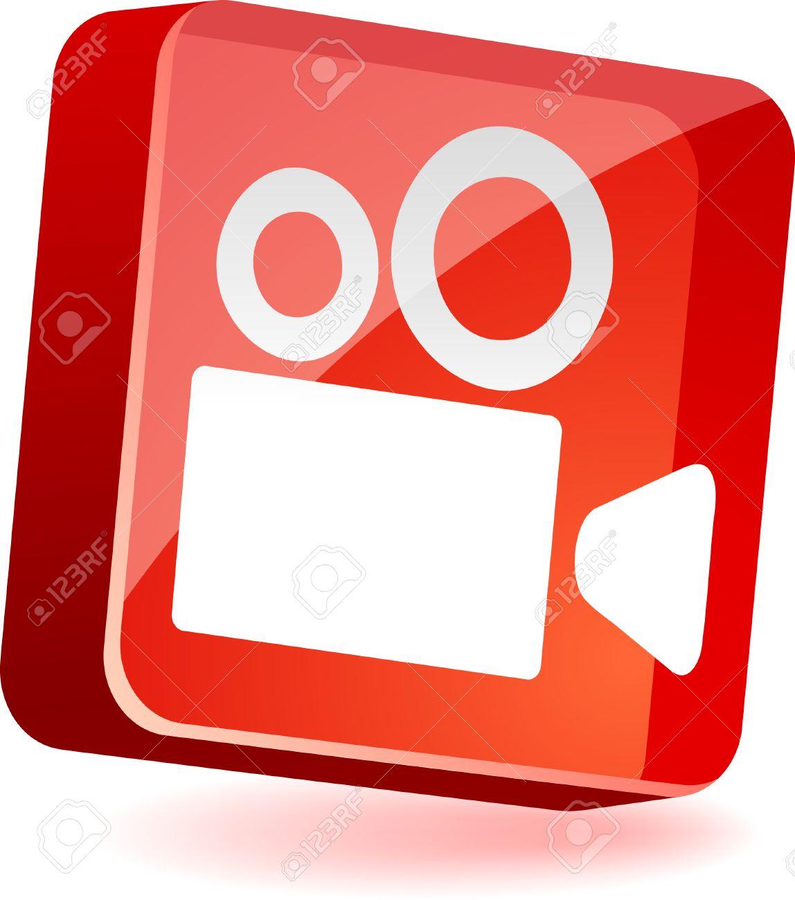 Cinema 3d icon. Vector illustration. Stock Vector - 4935334