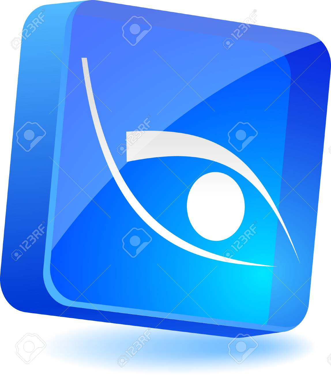 Eye 3d icon. Vector illustration. Stock Vector - 4935325