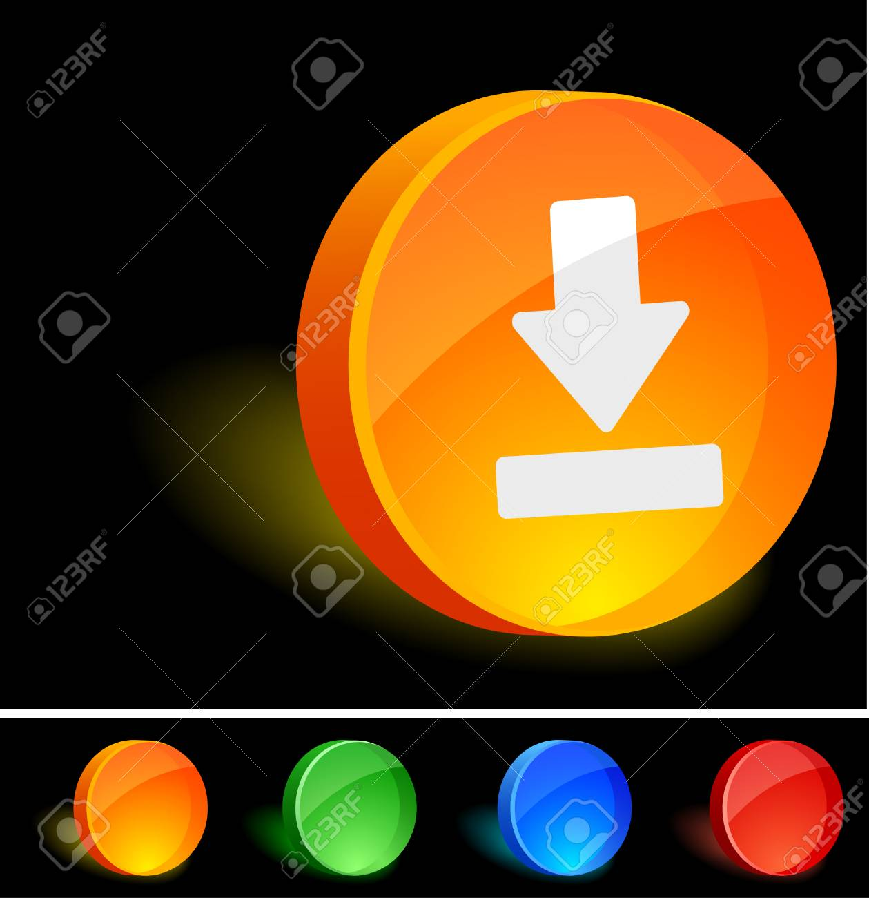 Download 3d icon. Vector illustration. Stock Vector - 5021578