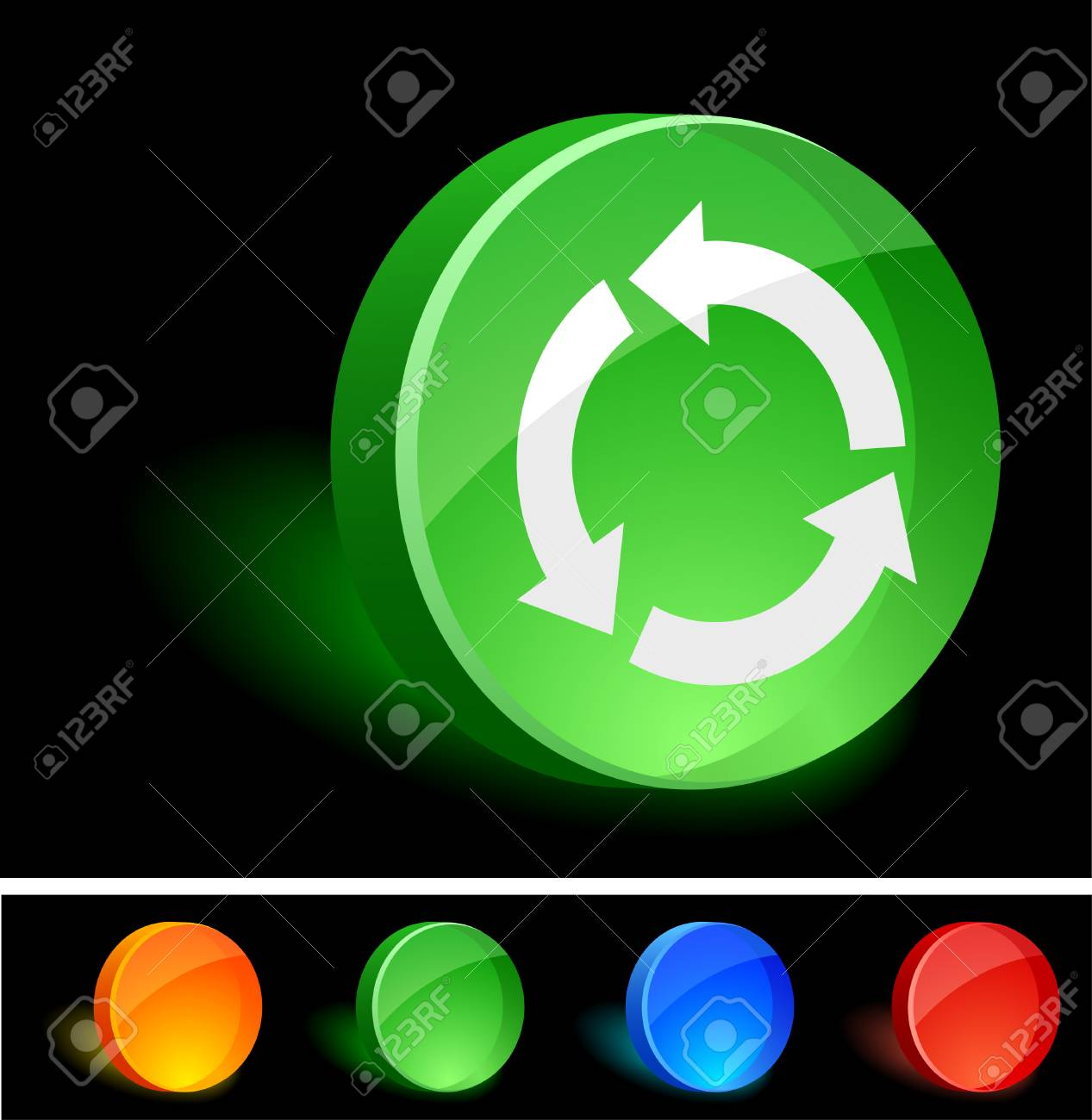 Recycle 3d icon. Vector illustration. Stock Vector - 5021575
