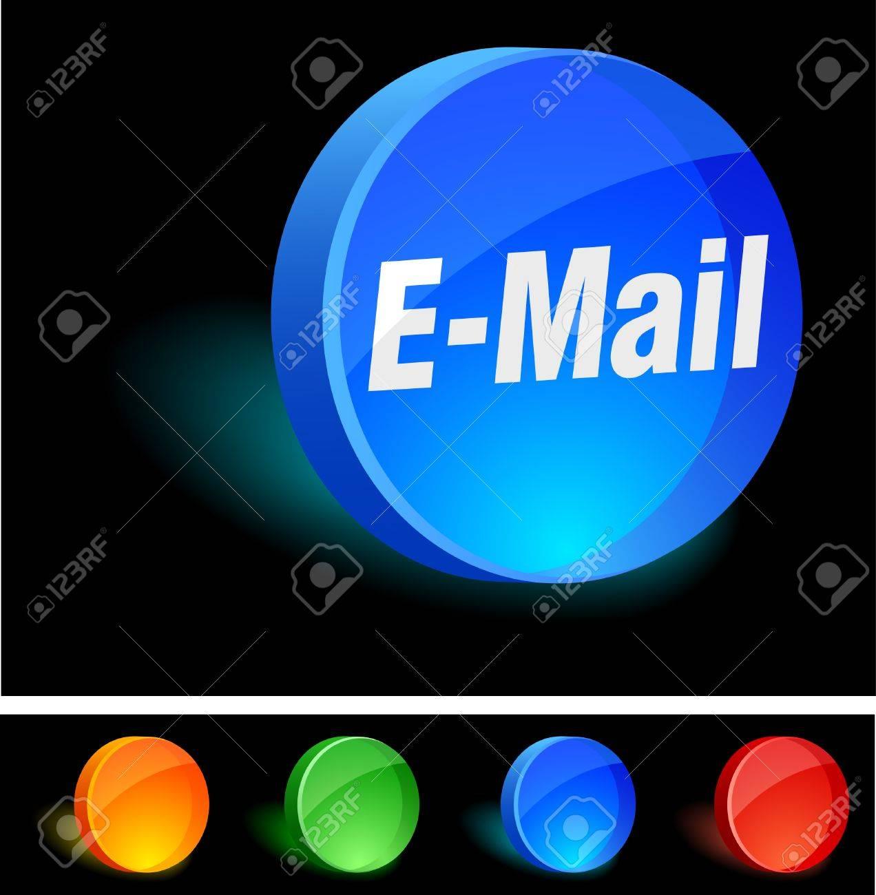 E-mail 3d icon. Vector illustration. Stock Vector - 5155105