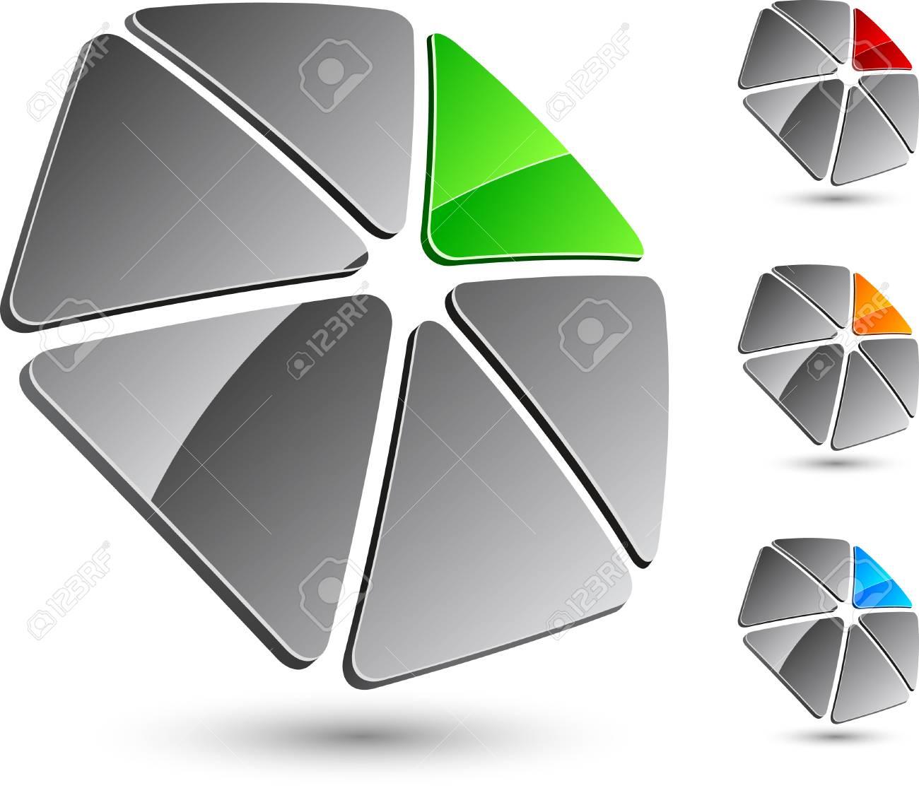 Abstract company symbol. Vector illustration. Stock Vector - 5181064