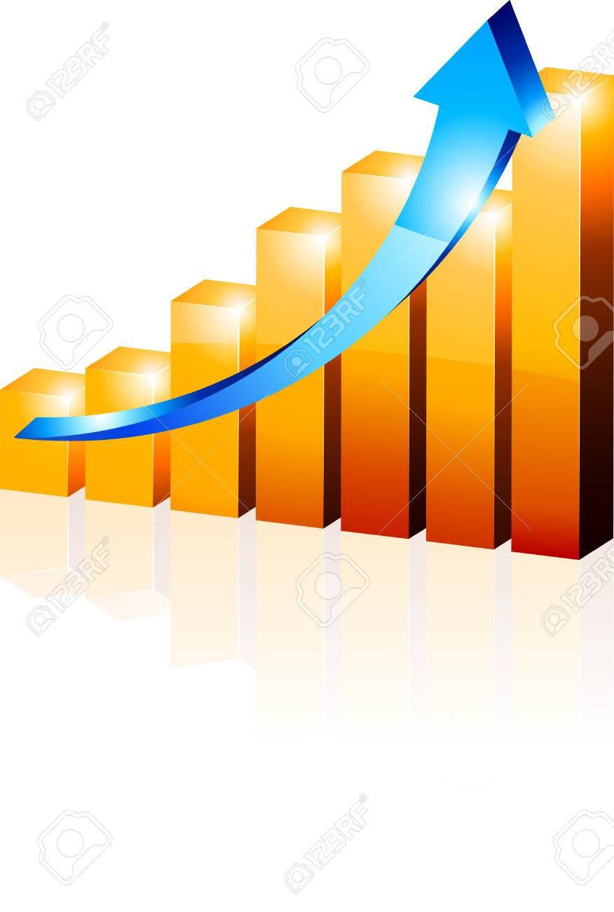 3d growth diagram. Vector illustration. - 5219954