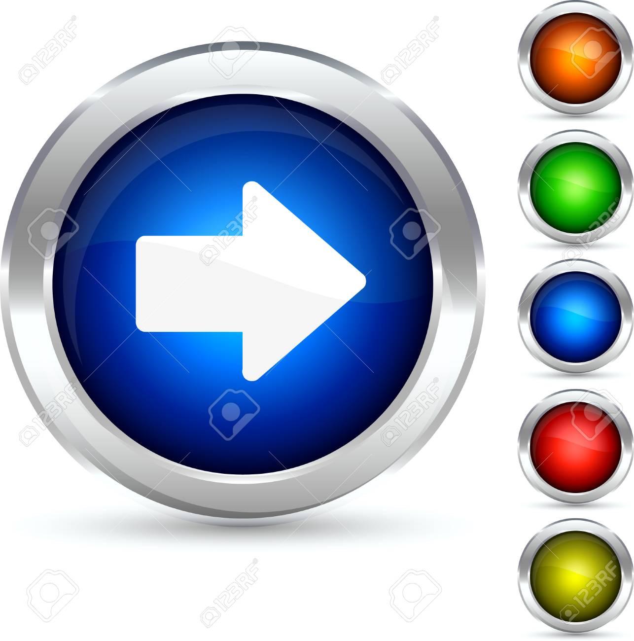 Arrow detailed button. Vector illustration. Stock Vector - 5298553