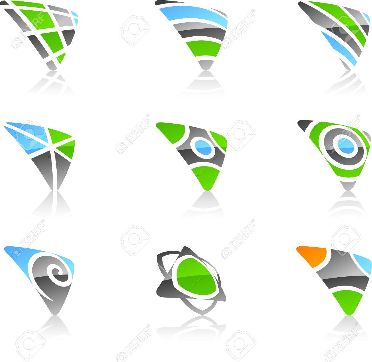 Abstract triangle symbols. Vector illustration. Stock Vector - 5349937