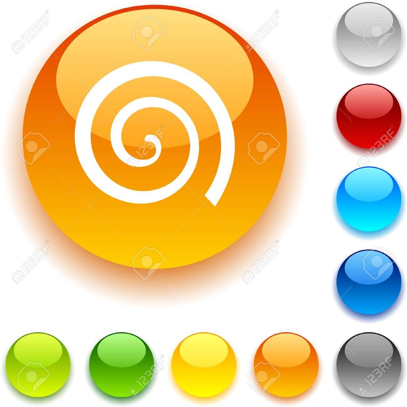 Swirl shiny button. Vector illustration. Stock Vector - 5457956
