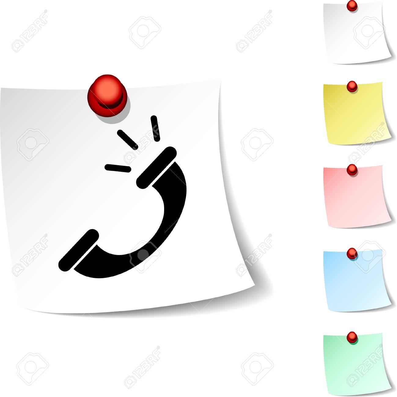 Telephone  sheet icon. Vector illustration. Stock Vector - 5560268
