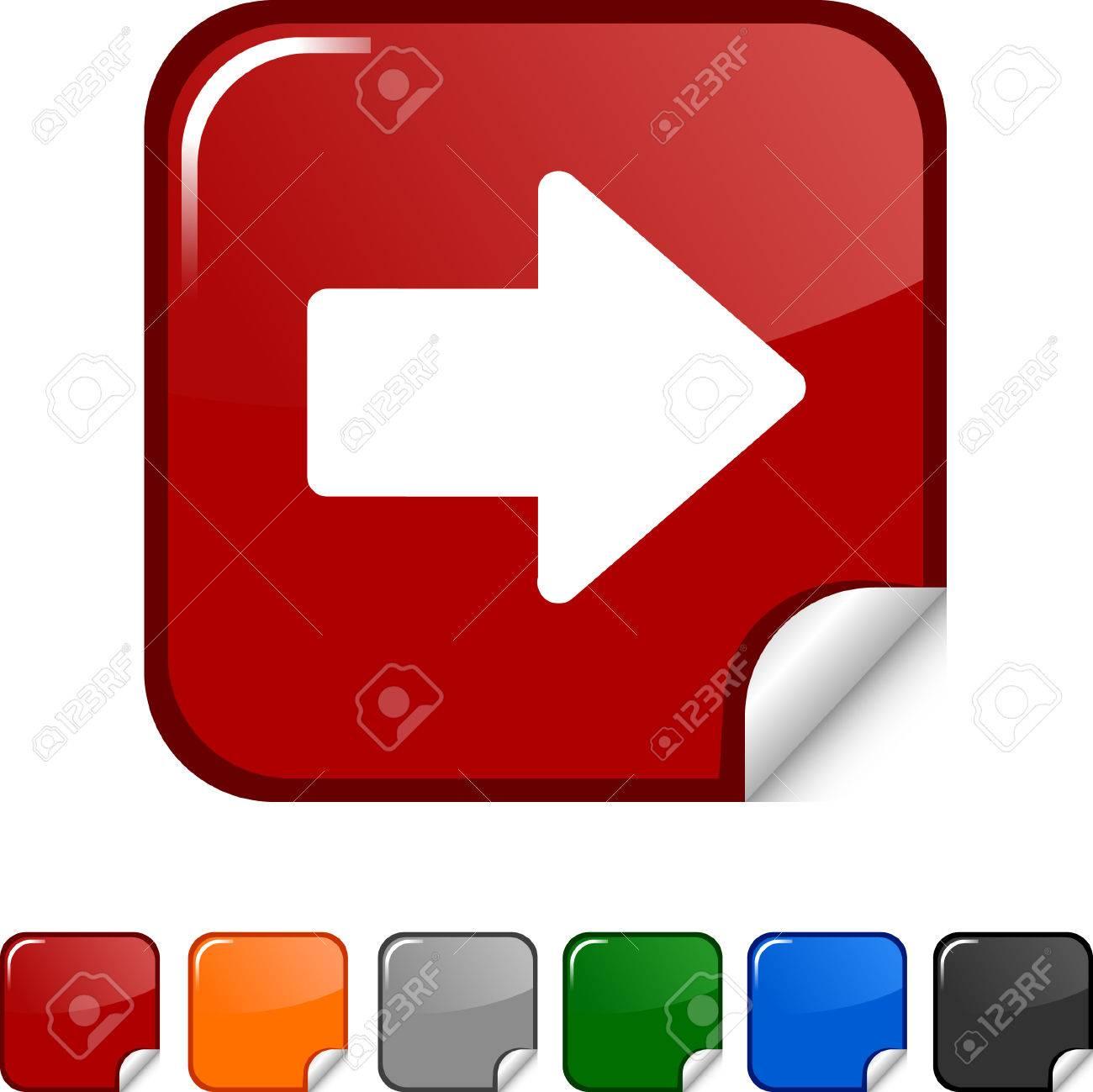 Arrow  sticker icon. Vector illustration. Stock Vector - 5617897