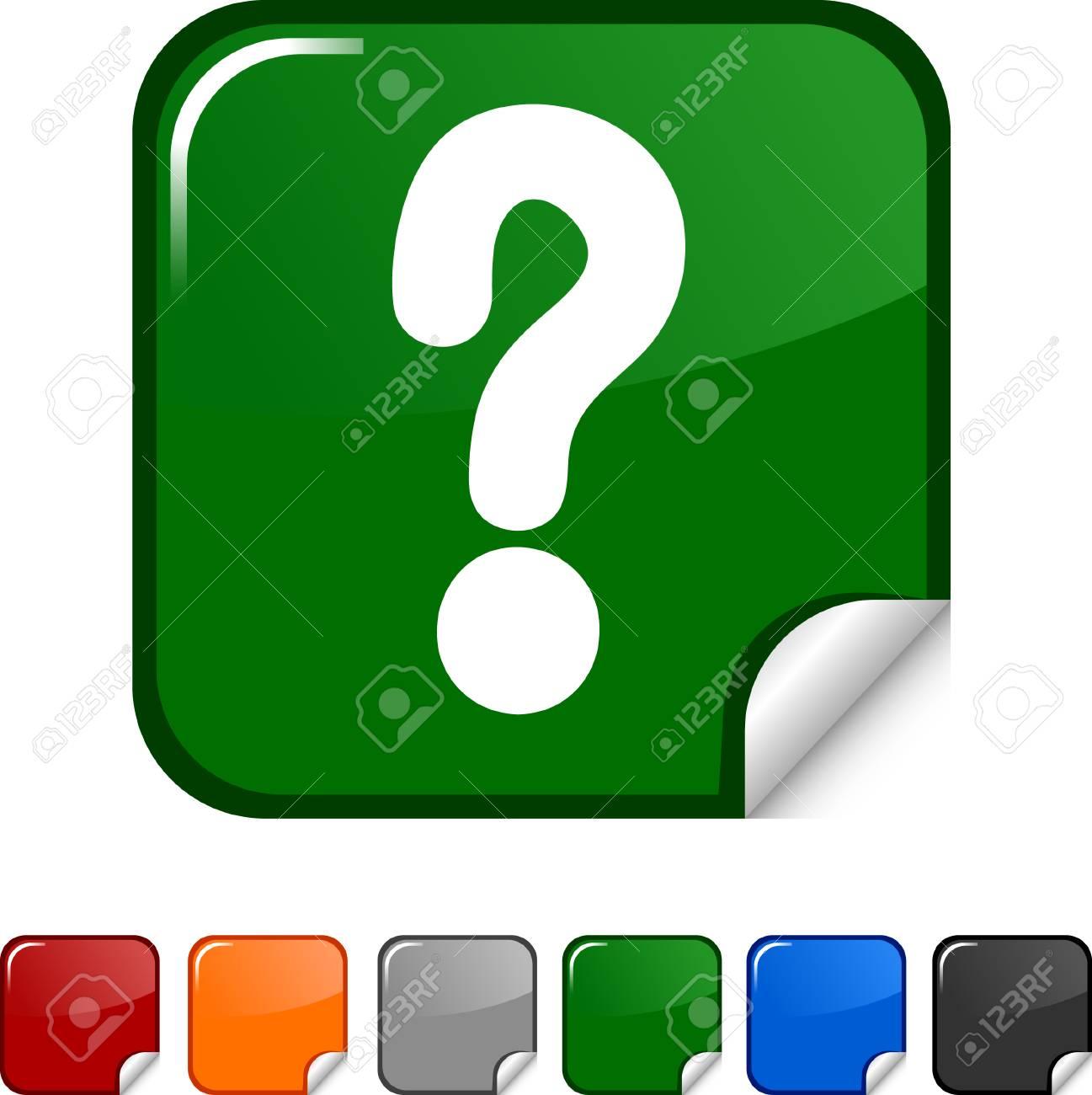 Question  sticker icon. Vector illustration. Stock Vector - 5627959
