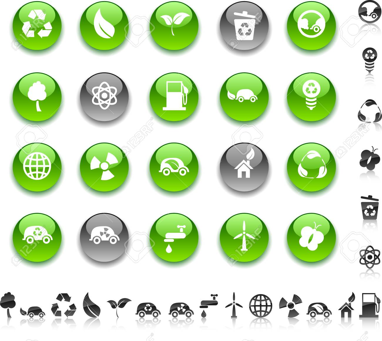 Ecology icon set. Vector illustration. Stock Vector - 5635431