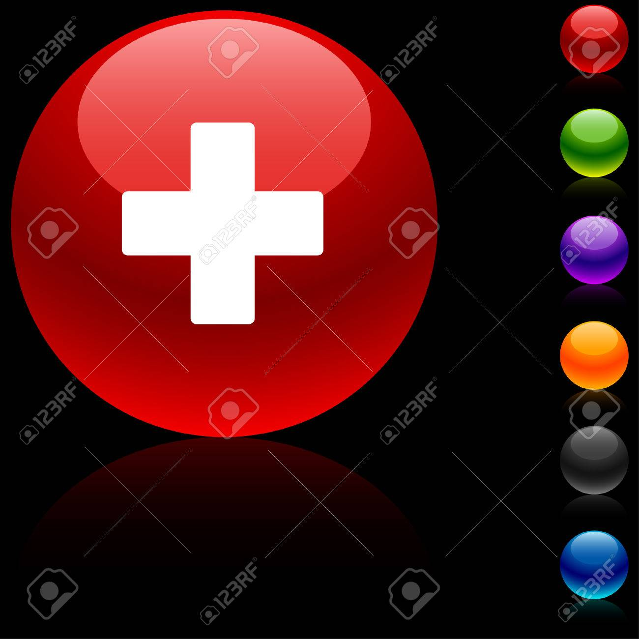Switzerland  glossy icon. Stock Vector - 5662473
