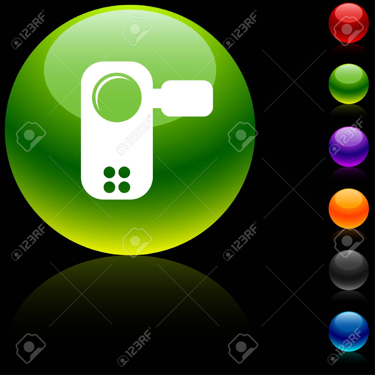 Video  glossy icon. Vector illustration. Stock Vector - 5686227