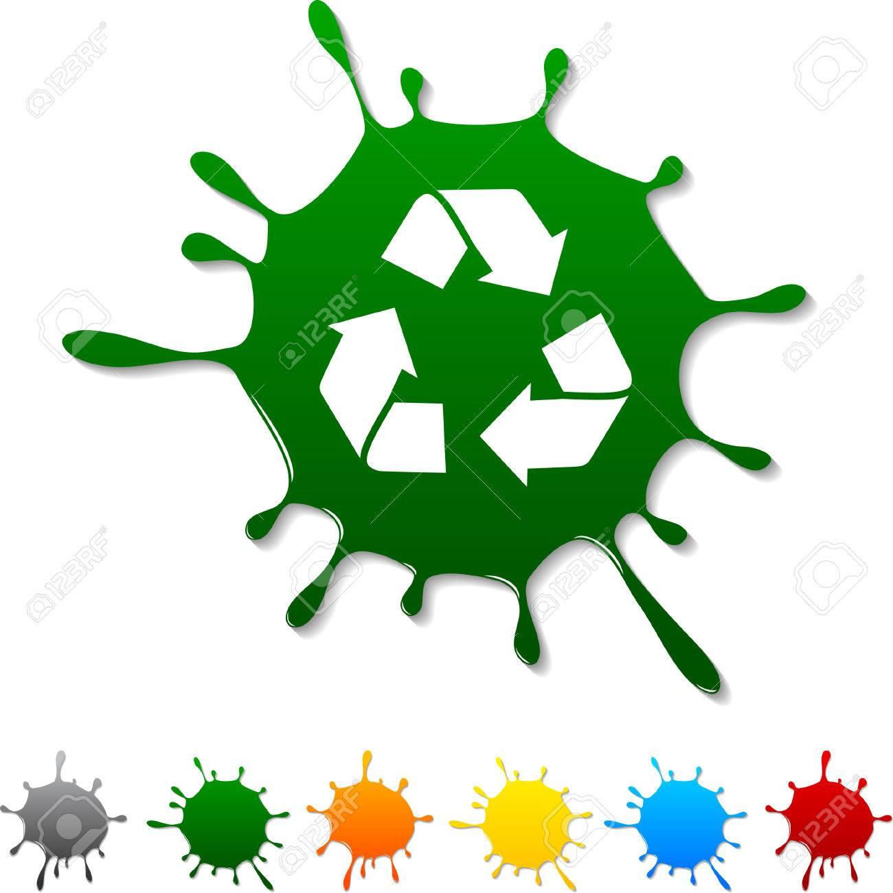 Recycle  blot icon. Vector illustration. Stock Vector - 5719355