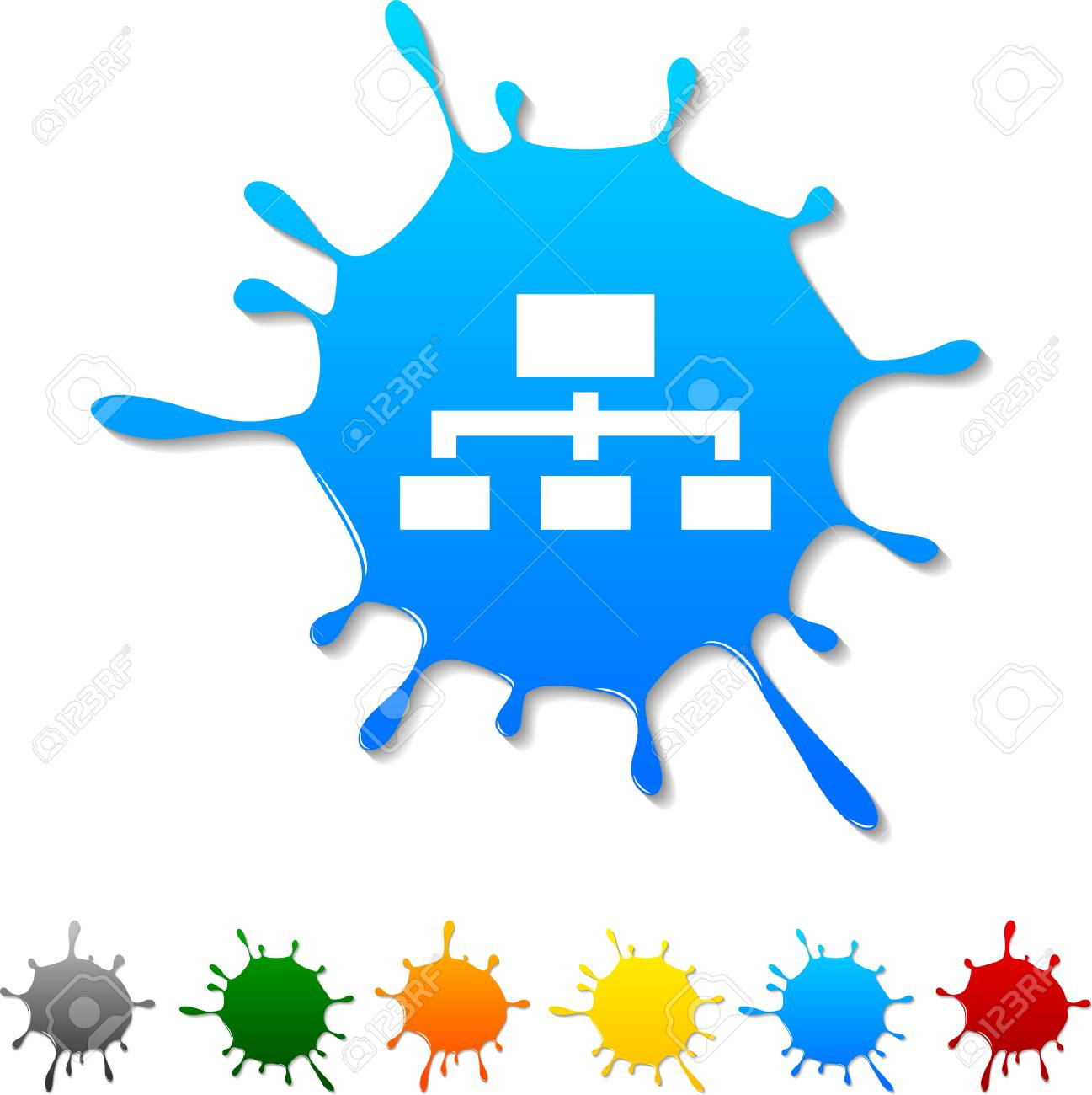 Network  blot icon. Vector illustration. Stock Vector - 5719394