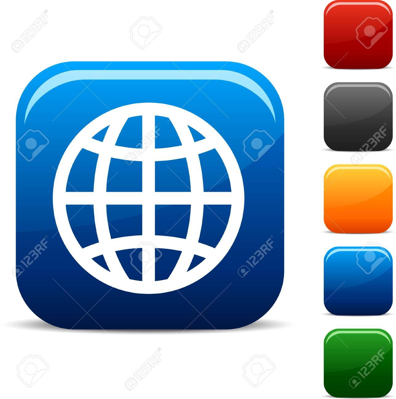 Earth  icon set. Vector illustration. Stock Vector - 5747043