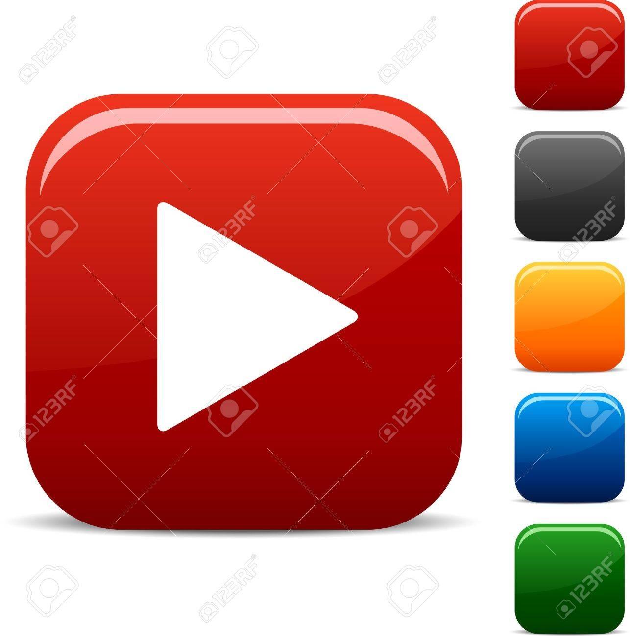 Play Icon Set Vector  Youtube Play Button Logo Vector