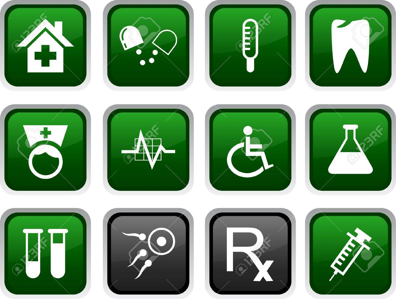 Medical icon set. Vector illustration. Stock Vector - 5772175