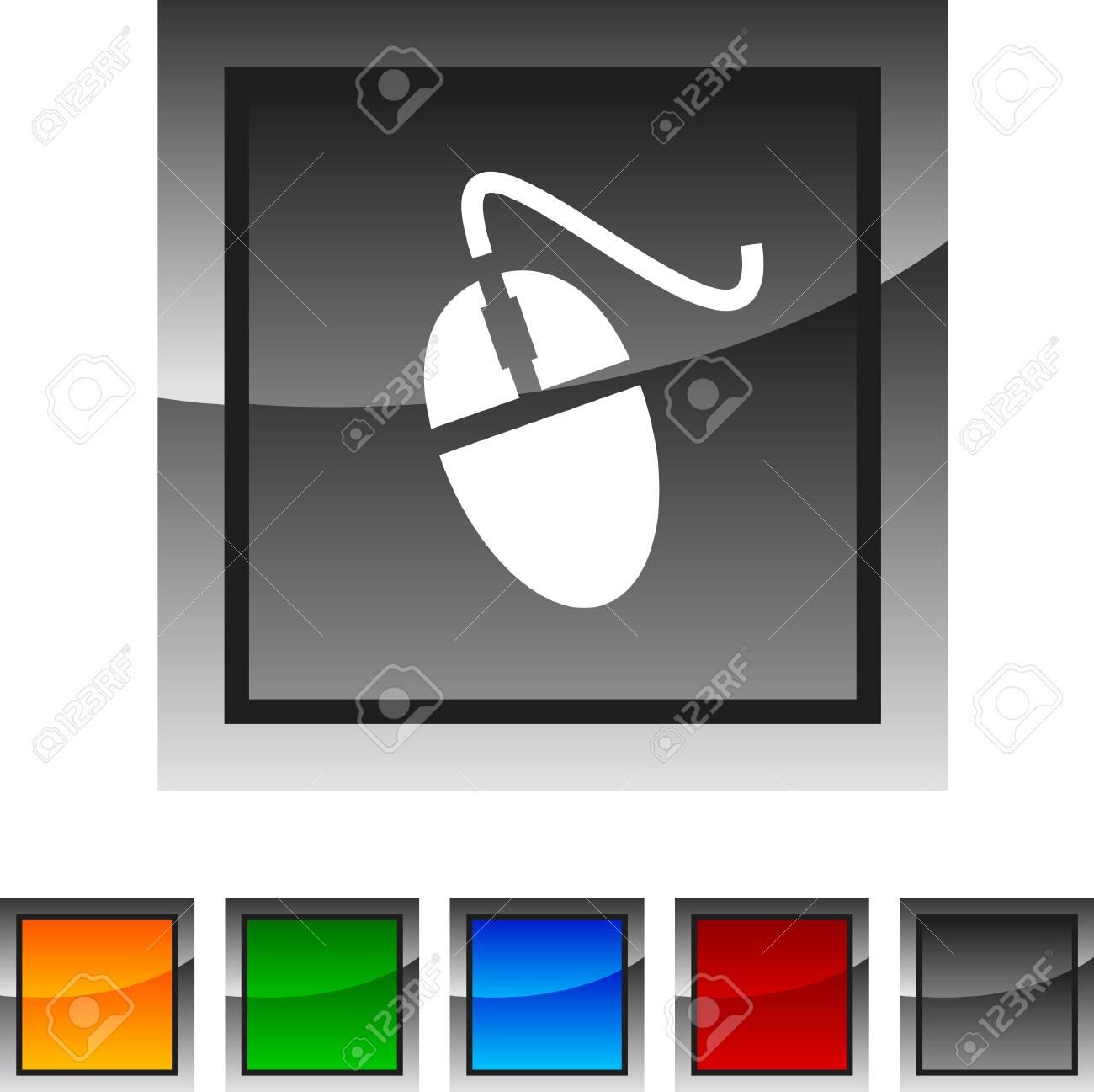 Mouse icon set. Vector illustration. Stock Vector - 5822954