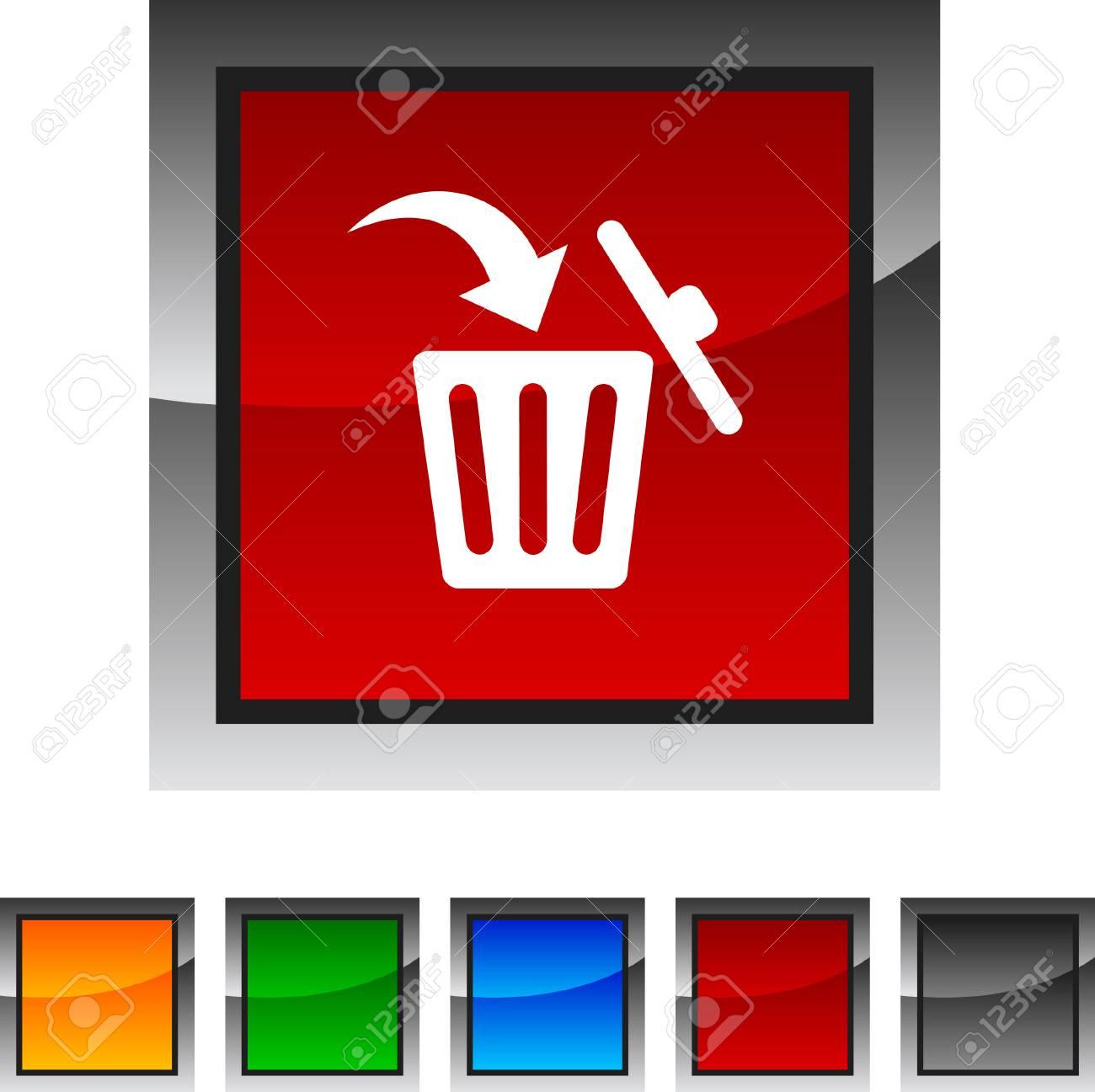 Delete icon set. Vector illustration. Stock Vector - 5836092