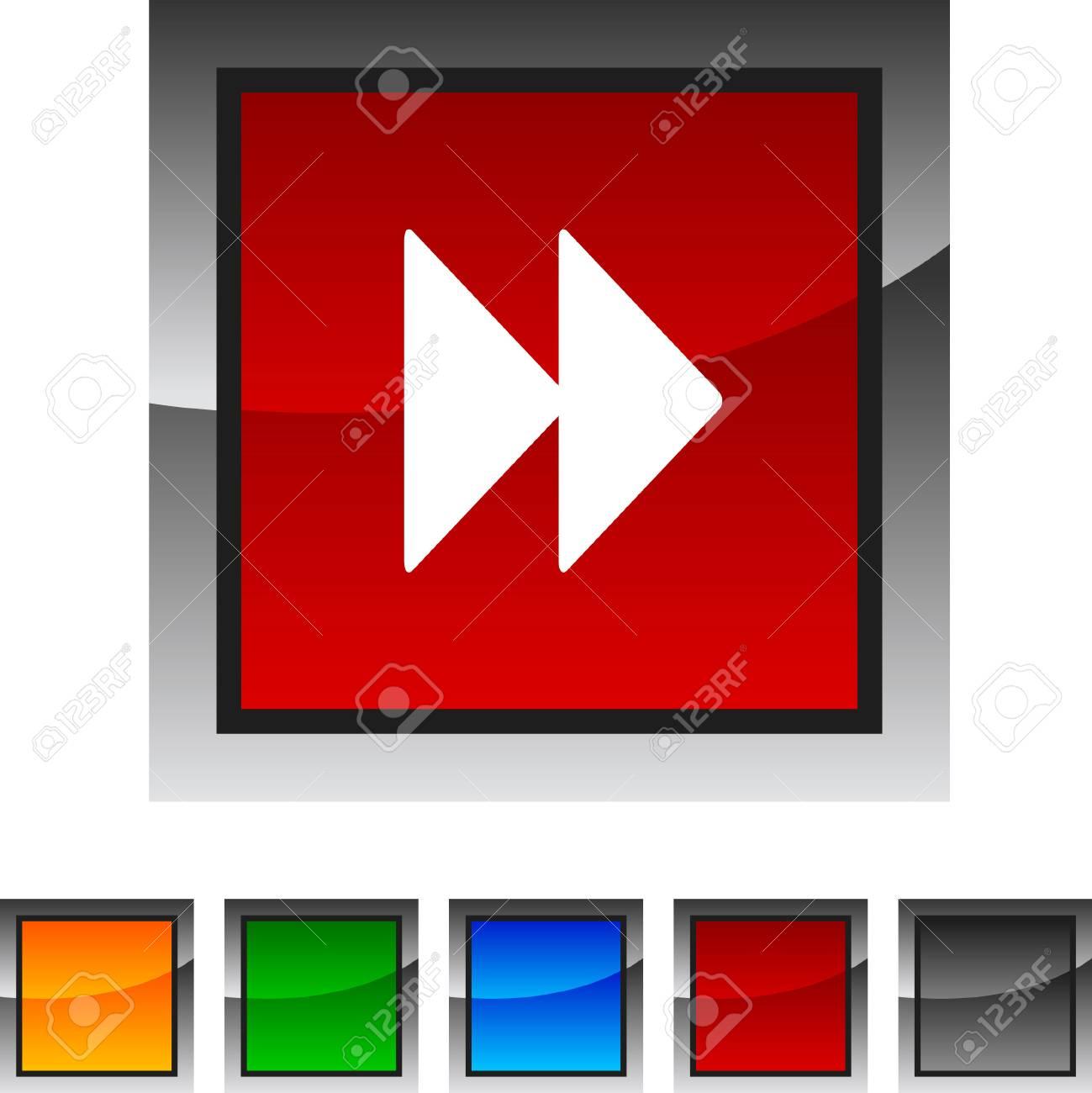 Forward icon set. Vector illustration. Stock Vector - 5842877