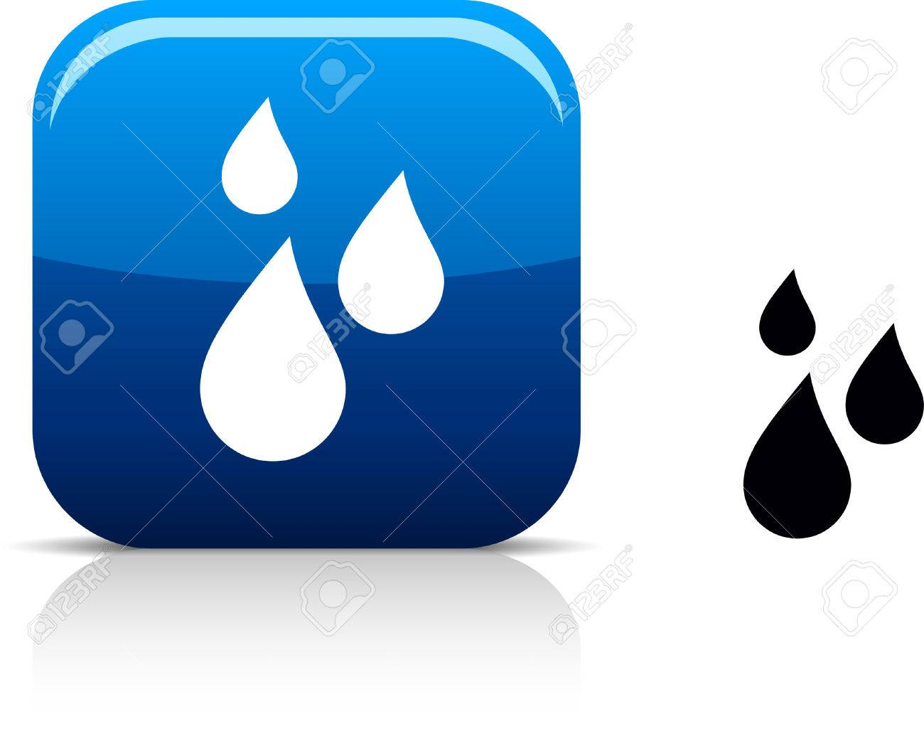 Rain beautiful icon. Stock Vector - 5976547