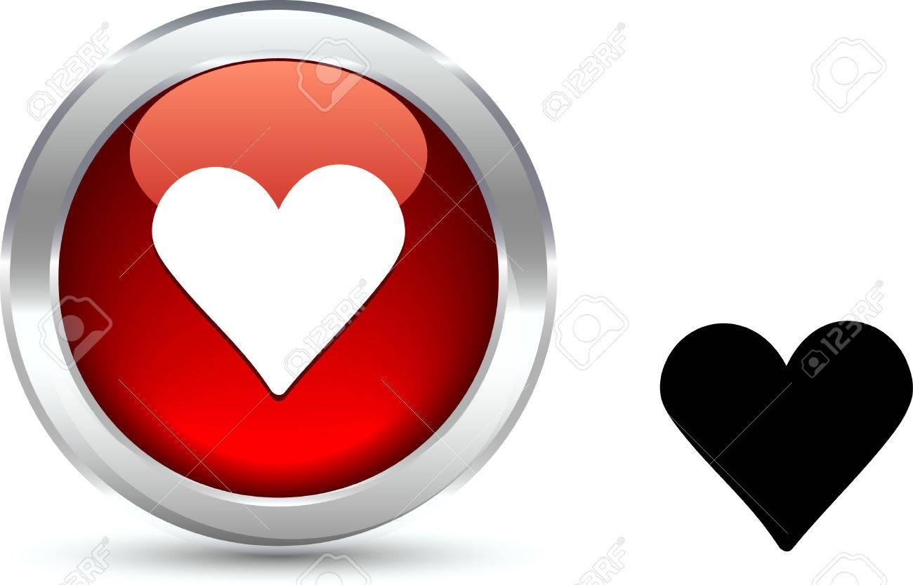 Love   realistic button. Vector illustration. Stock Vector - 6103943