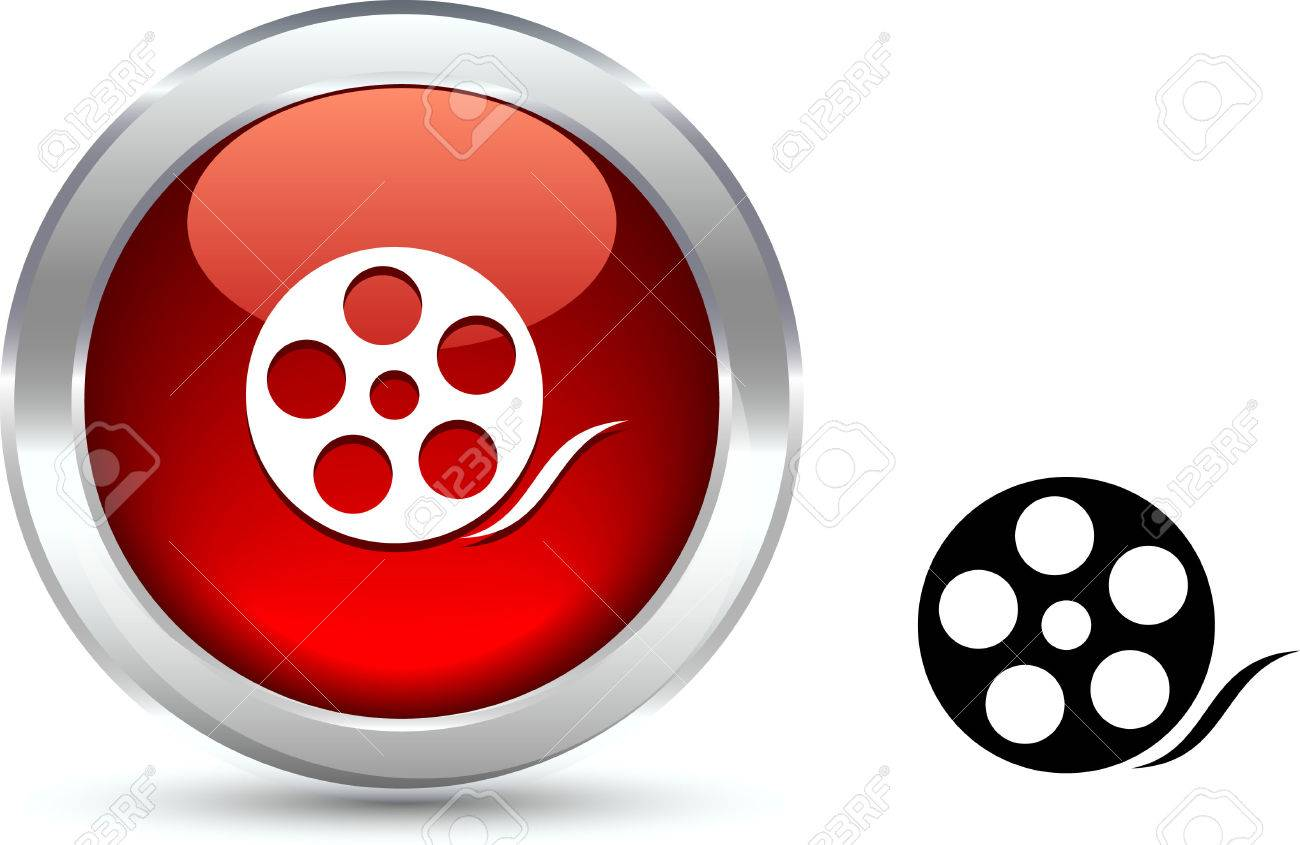 Media  realistic button. Vector illustration. Stock Vector - 6131127