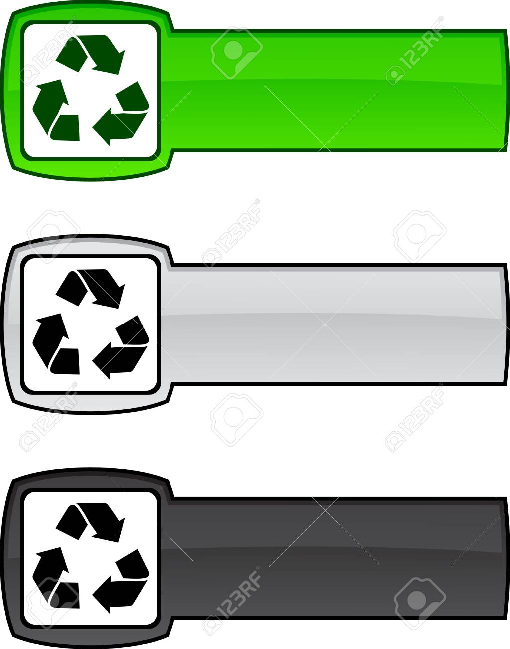 Recycle   web button. Vector illustration. Stock Vector - 6172331