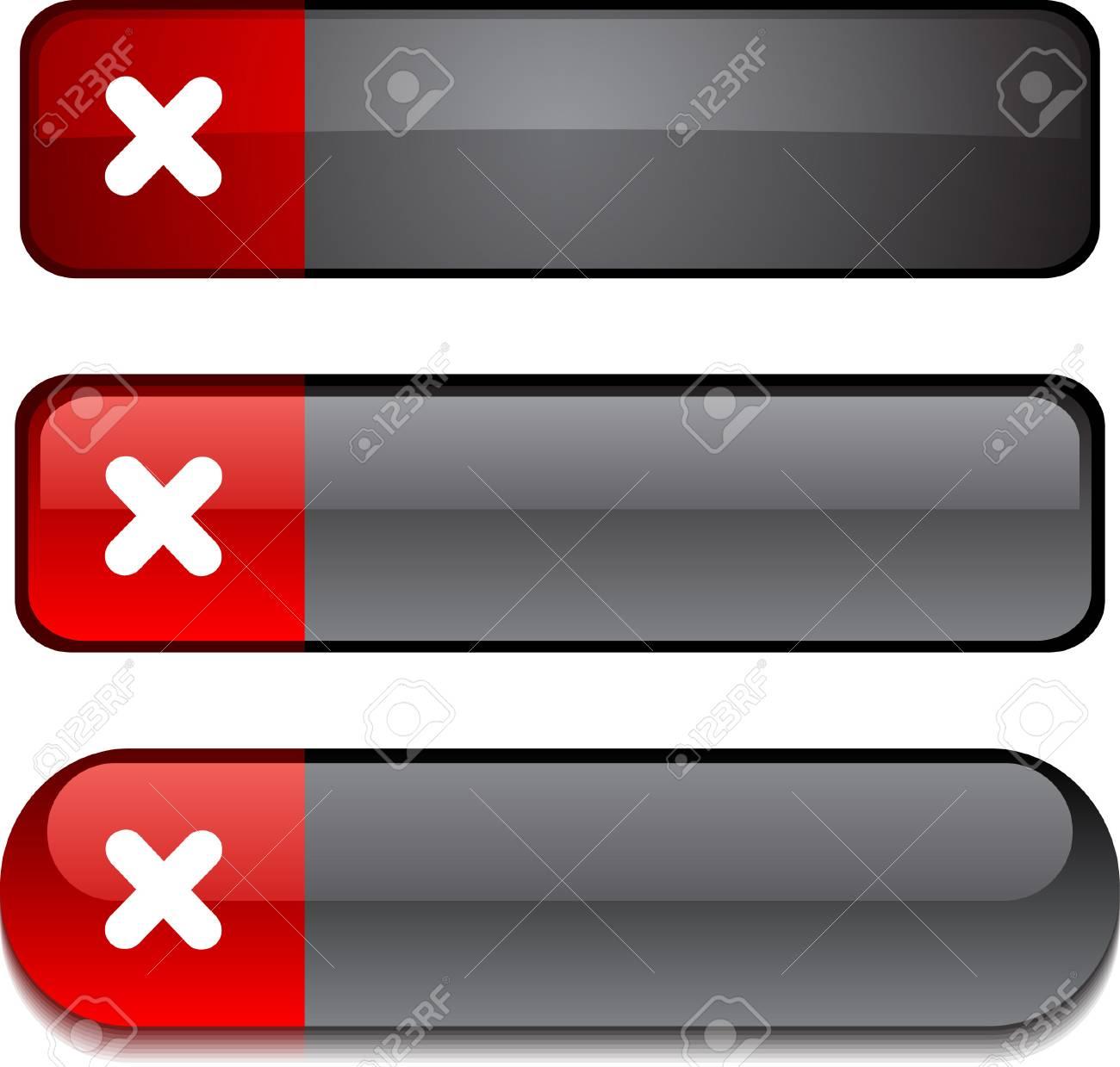 Cross  web buttons. Vector illustration. Stock Vector - 6290959