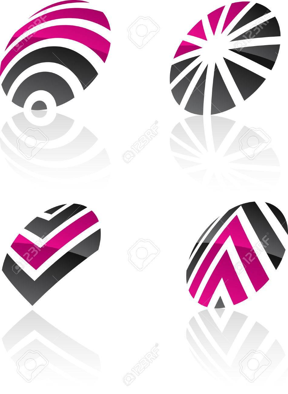 Abstract design symbols. Vector illustration. Stock Vector - 6297193