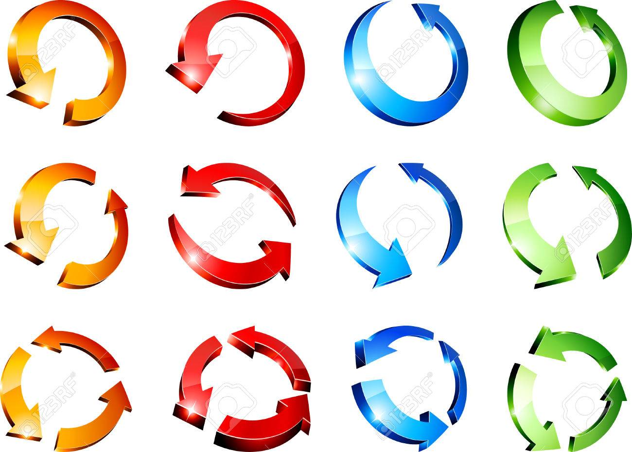 Set of arrows. Vector illustration. Stock Vector - 6416730