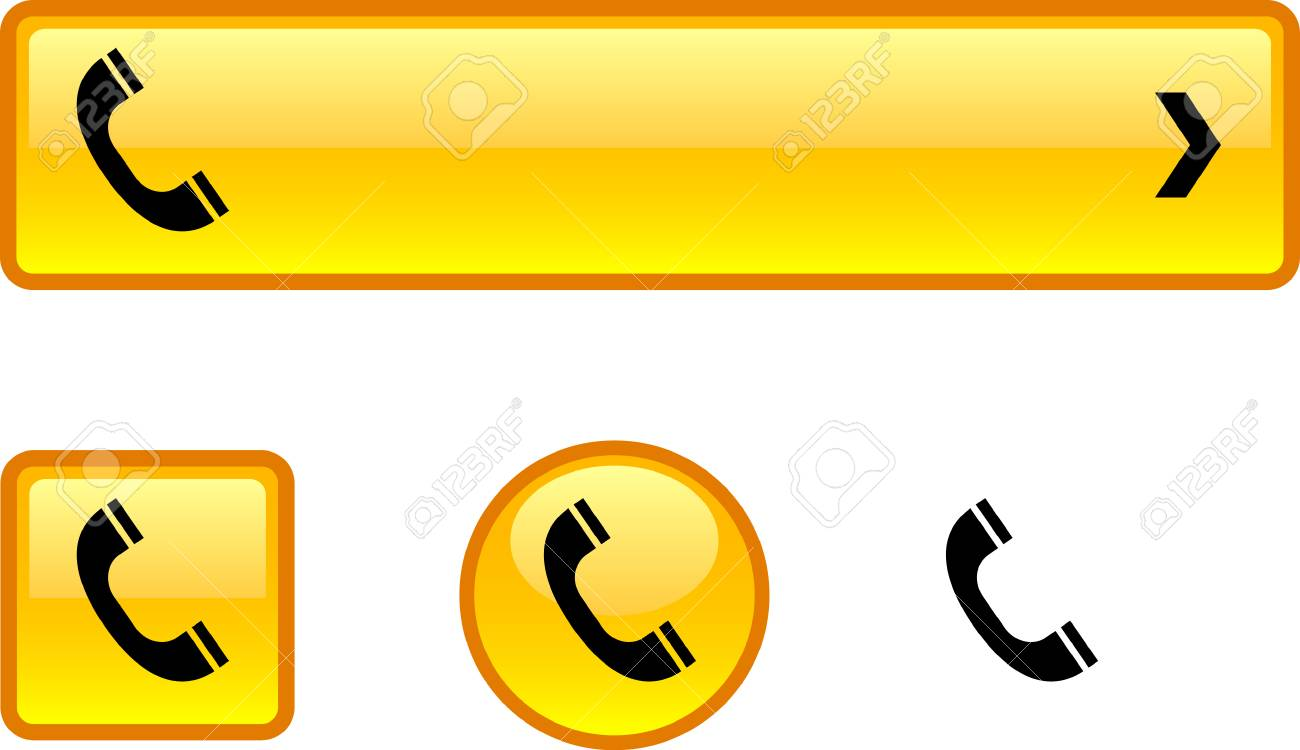 Telephone web buttons. Stock Vector - 6457871